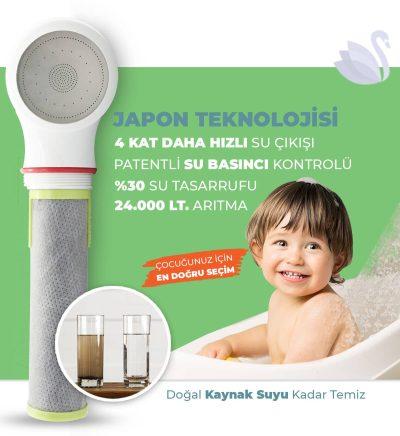 Aktif Karbon Fiber Filtreli Arıtmalı Duş Başlığı